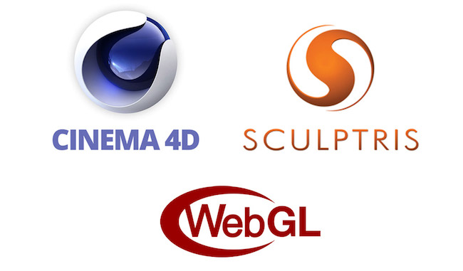 Cinema4D, Sculptris & WebGL