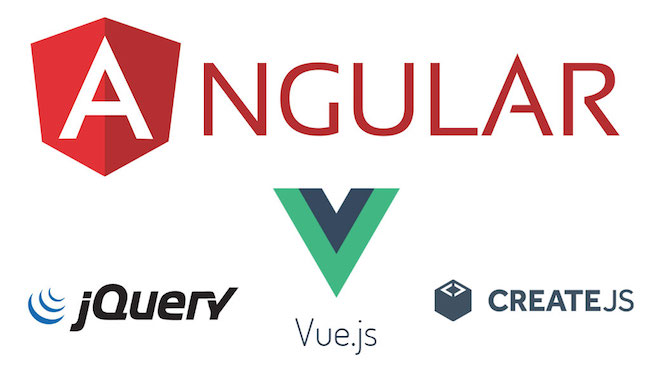 AngularJS, jQuery and CreateJS